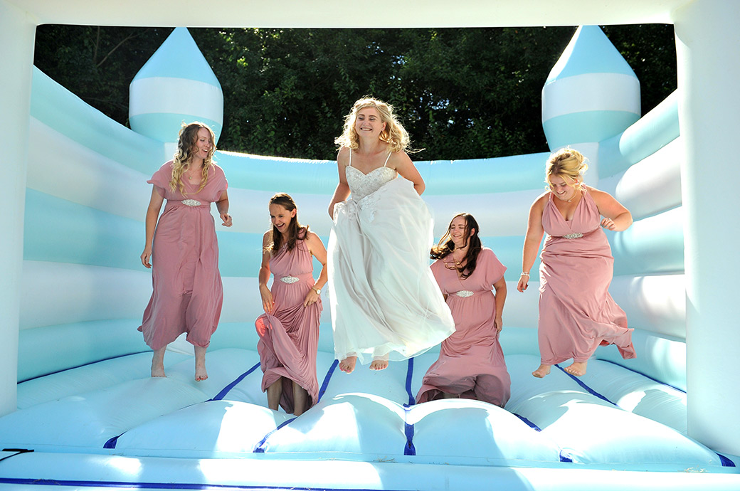 Bride-on-bouncy-castle-surrey